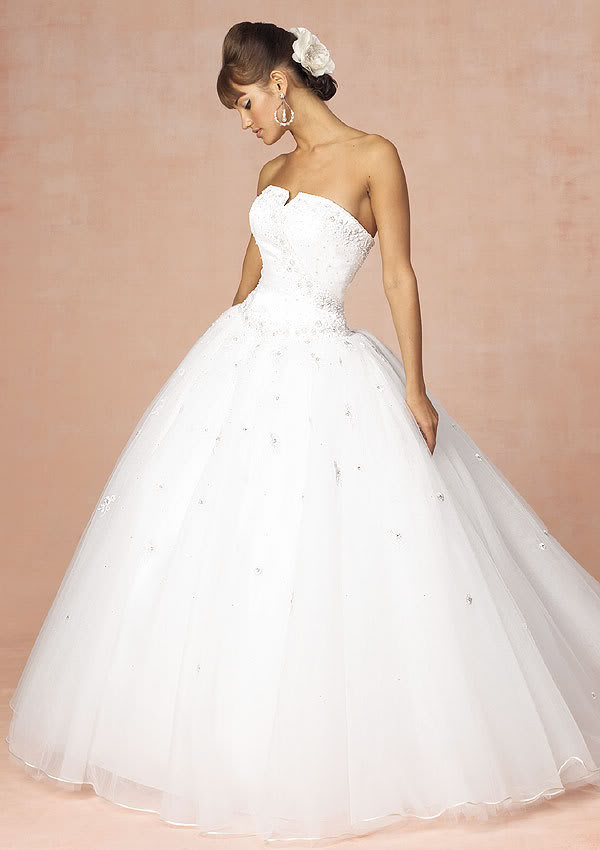 Stunning ball gown wedding dress dressshoppingonline for Cheap and beautiful wedding dresses